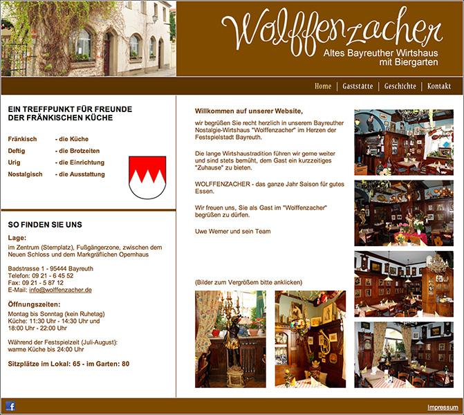 Gaststätte Wolffenzacher, Bayreuth
