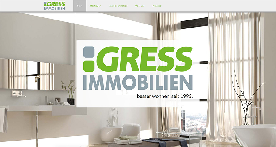 Gress Immobilien, Neuhaus / Website 2014