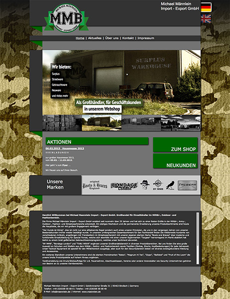 Michael Männlein GmbH, Bindlach / Website 2012