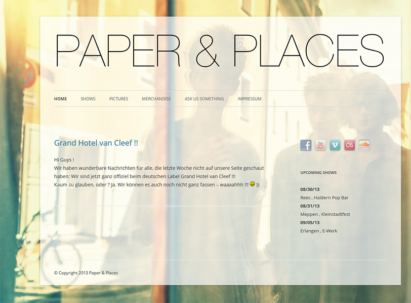 Paper and Places