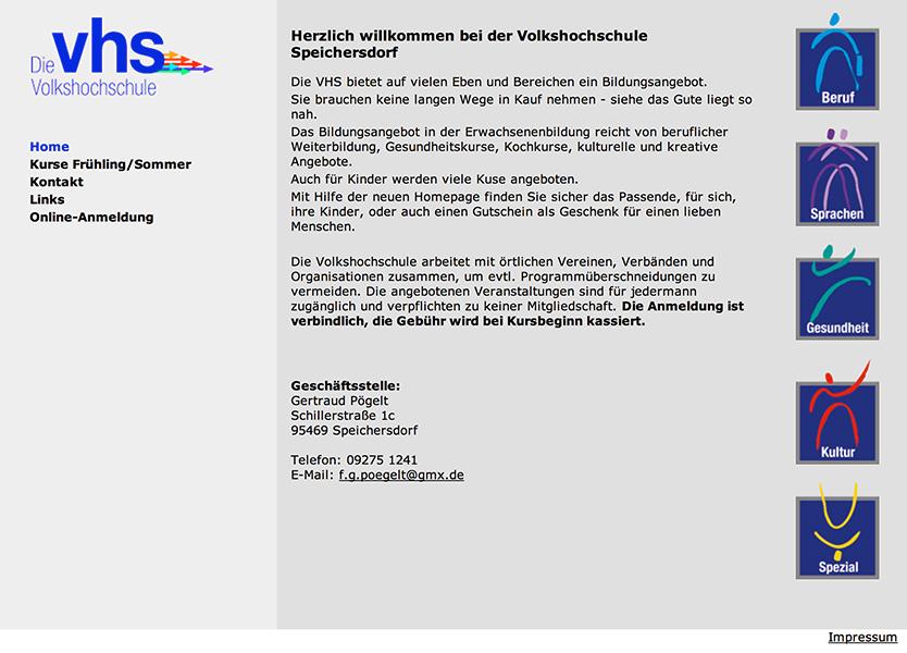 Volkshochschule Speichersdorf